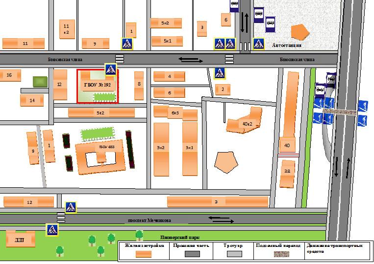 Cхема расположения гимназии